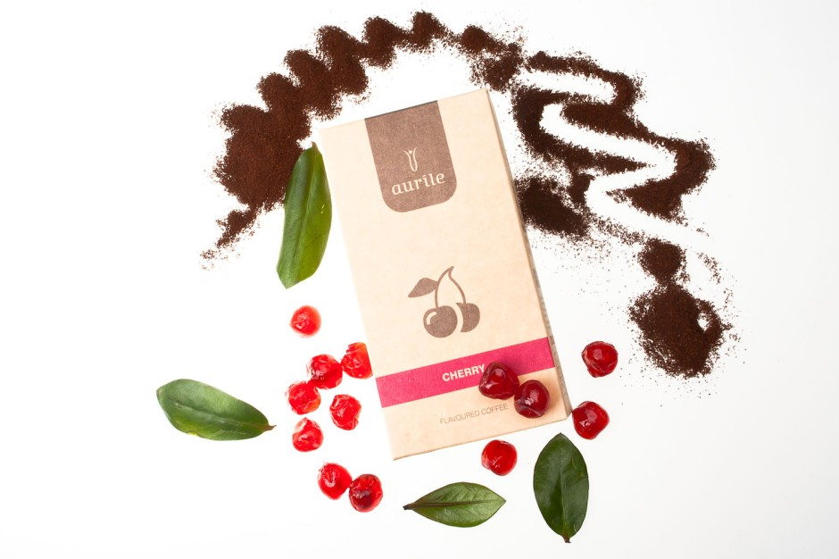 Aurile Cherry Kawa mielona o aromacie cherry