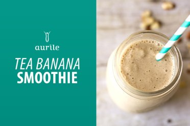 Składniki: • 1 łyżeczka zielonej herbaty Aurile EUPHORIA, • 1 duża brzoskwinia, • 1 banan, • 1 i ½ łyżki miodu, • opcjonalnie ½ szklanki soku pomarańczowego. Przygotowanie: Herbatę zaparzamy w 200 ml. wody w temperaturze 95˚ C., następnie studzimy. Banany i brzoskwinię kroimy na mniejsze kawałki. Owoce wrzucamy do blendera, dodając herbatę i miód, ewentualnie sok pomarańczowy. Miksujemy wszystkie składniki i przelewamy do ulubionego naczynia.